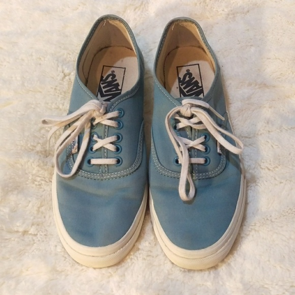 2ee9f6beca Vans Authentic Slim Brushed Twill Blue Shoes. M 5b1b75802e1478afa7094fcd
